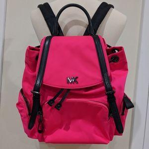 NWOT Hot Pink and Black MK Michael Kors Backpack